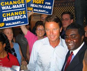 Senator Edwards and Khari Mosley