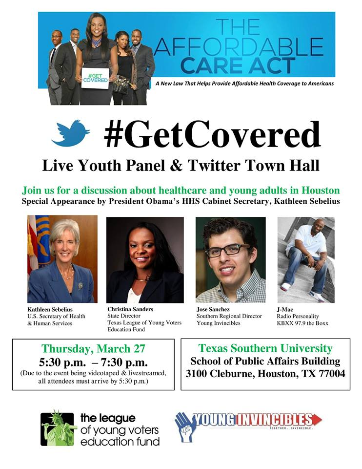 The Texas League of Young Voters and the Young Invincibles partner up with Secretary Sebelius  to get young voters enrolled in the Affordable Care Act.